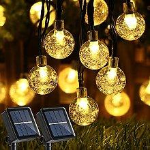 Joomer 2 Pack Globe Solar String Lights 20ft 30