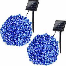 Joomer 2 Pack Solar String Lights 72ft 200 LED 8
