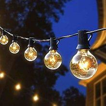 Joomer 25Ft Outdoor String Lights,G40 Hanging Bulb