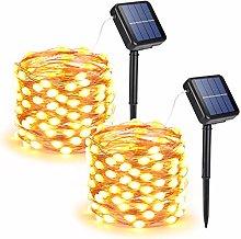 Joomer Solar String Lights Outdoor, 2-Pack Each
