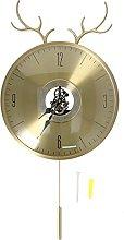 Jopwkuin Clock, Copper Clock Deer Head Design