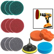 JOQINEER 13 Pieces Drill Power Scrubber Brush