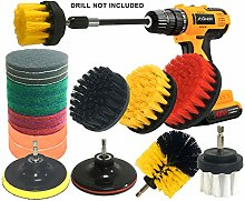 JOQINEER 20Piece Drill Brush Attachments Set,Scrub