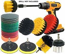 JOQINEER 20Piece Drill Brush Attachments Set,Scrub