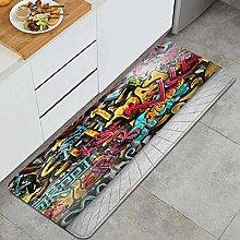JOSENI Anti-Fatigue Kitchen Floor Mat,Graffiti