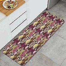 JOSENI Anti-Fatigue Kitchen Floor Mat,Maroon Plum
