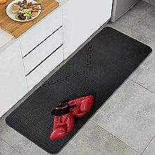 JOSENI Anti-Fatigue Kitchen Floor Mat,Red Boxing