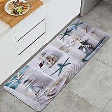 JOSENI Anti-Fatigue Kitchen Floor Mat,Sea Shell