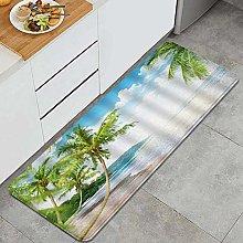 JOSENI Anti-Fatigue Kitchen Floor Mat,Sunset Ocean