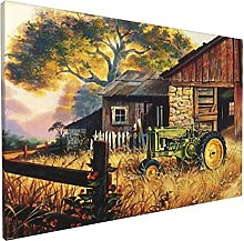 JOSENI Canvas Wall Art Oil Painting Office Home