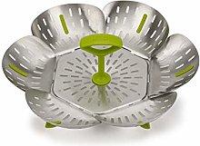 Joseph Joseph Bloom Steel Folding Steamer Basket -