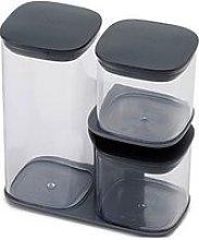 Joseph Joseph Podium 3-Piece Storage Jar Set With