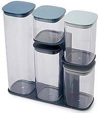 Joseph Joseph Podium 5-Piece Storage Jar Set With