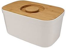 Joseph Joseph White Bread Bin With Bamboo Lid