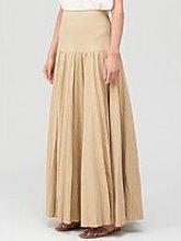 Joseph Sven Linen Cotton Skirt - Beige