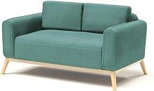 Joshua 2 Seater Sofa Hykkon Upholstery: Blue