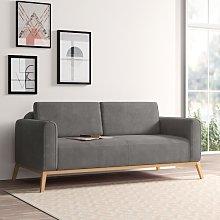 Joshua 3 Seater Sofa Hykkon Upholstery: Grey
