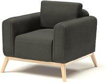 Joshua Arm Chair Hykkon Upholstery: Dark Grey
