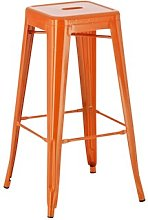 Joshua Bar Stool Borough Wharf Colour: Orange