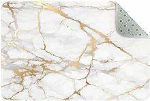 Josidd Gold And White Marble Doormat Welcome Mat,