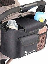 josietomy Buggy Pram Bag Organiser Black Baby