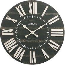 Joslyn Oversized Antique Wood Wall Clock Williston