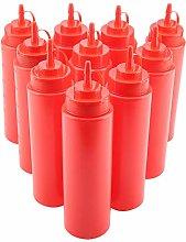 Josopa 10pcs / Set Plastic Condiment Dispenser for