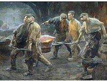 Josselin De Jong Interior Iron Foundry Painting