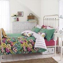 Joules Cambridge Floral Bedding, Jade Green