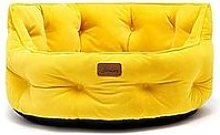 Joules Chesterfield Pet Bed Yellow Small