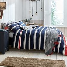 Joules Galley Grade Stripe Bedding In Navy