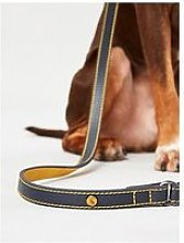 Joules Navy Leather Lead