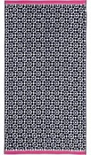 Joules Tile Geo Beach Towel, French Navy