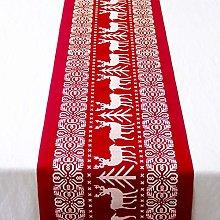 Jourad Christmas Table Runner, Xmas Table Linens