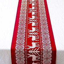 Jourad Christmas Table Runner, Xmas Table Linens