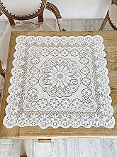 Jourad White Lace Square Tablecloth with Elegant