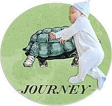 Journey Travel Turtle Vintage Green, Kids Round