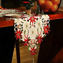 Jovitec Christmas Table Runner Holly Leaf Table