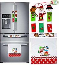 JOYIN 5 Pieces Christmas Kitchen Appliance Handle