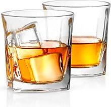 JoyJolt Luna Crystal Whiskey Glasses, Old