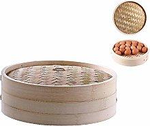 JOYKK 4 Inch kitchen Bamboo Steamer Basket Asian