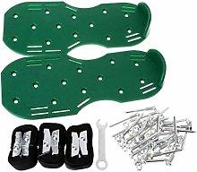 JOYKK A Pair Lawn Aerator Shoes Sandals Grass