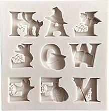 JOYKK Halloween Letter Silicone Mold DIY Chocolate
