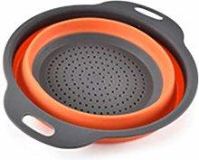 JOYKK Portable Foldable Colander Bowl Outdoor