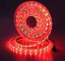 JOYLIT 5M Red LED Strip Light 300LEDs SMD5050, 12V