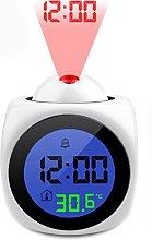 joyliveCY Projection Alarm Clock, Digital LCD