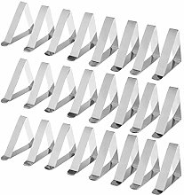 joyMerit 24/Pack Quality Steel Tablecloth Clips