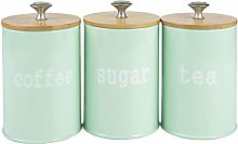 joyMerit 3-Pack Kitchen Canister Set With Airtight