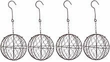 joyMerit 4Pcs Wall Hanging Wire Planters Basket