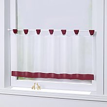 Joyswahl bistro curtain, voile, loops, pane